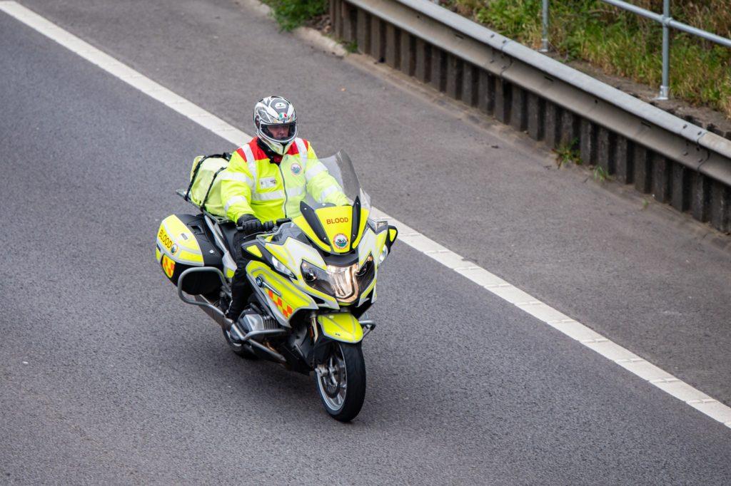 Policeman on a motorbike