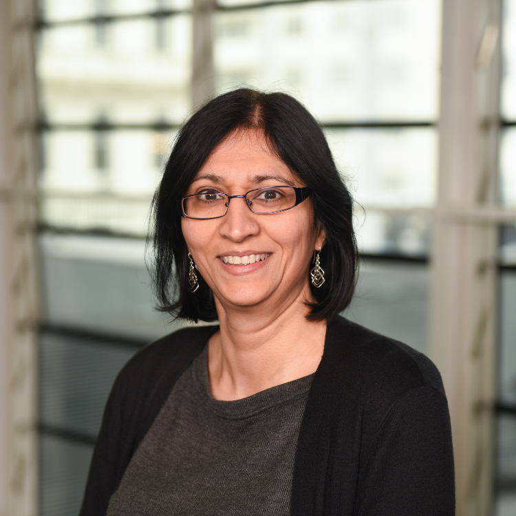 Portrait of Dr Deesha Chadha OBE.
