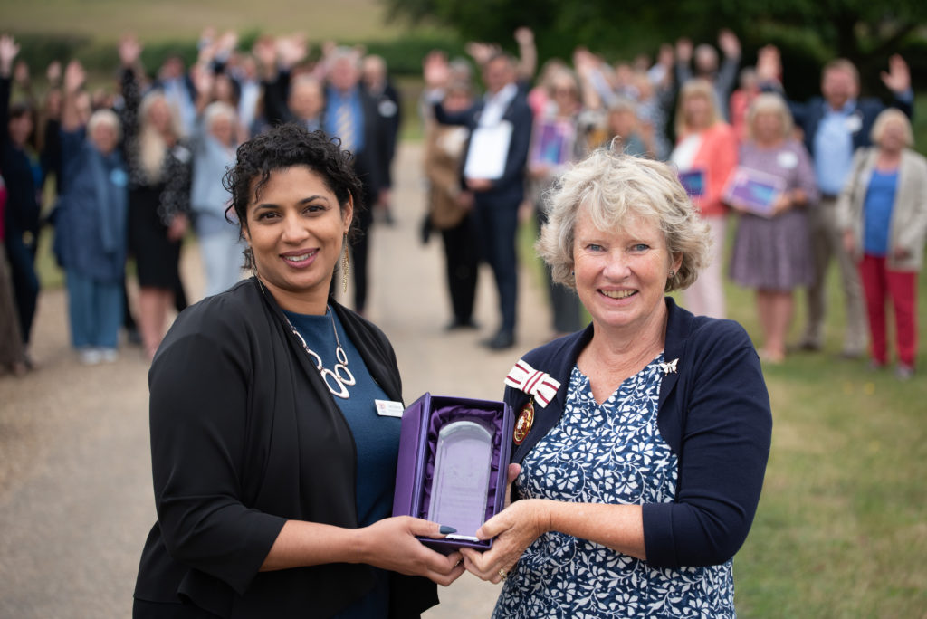 Home-Start in Suffolk has received a Queen's Award for Voluntary Service.  Chief-executive of Home-Start in Suffolk, Tara Spence with Judith Shallow, deputy lieutenant of Suffolk.  Picture: Sarah Lucy Brown